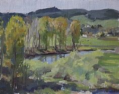 "The Valley by Emily  Schultz Oil ~ 8"" x 10"""
