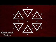 Easy Rangoli Designs Videos, Easy Rangoli Designs Diwali, Simple Rangoli Designs Images, Rangoli Designs With Dots, Rangoli With Dots, Beautiful Rangoli Designs, Kolam Designs, Kolam Rangoli, Flower Rangoli