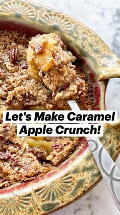 Dessert Dishes, Tasty Dishes, Food Dishes, Caramel Crunch, Caramel Apples, Easy Desserts, Delicious Desserts, Yummy Food, Apple Recipes