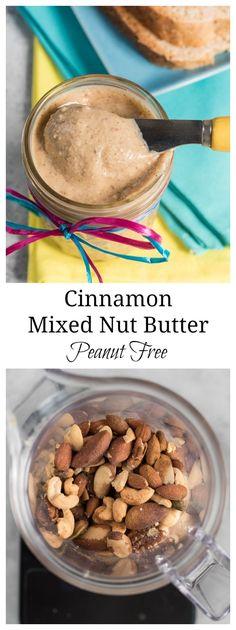 Cinnamon Mixed Nut Butter {Peanut Free} #glutenfree | www.nutritiouseats.com