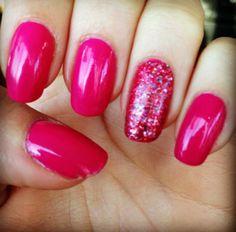 pink, summer nails