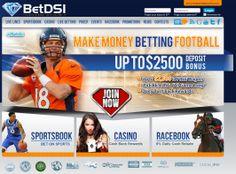 The homepage of online sportsbook BetDSI