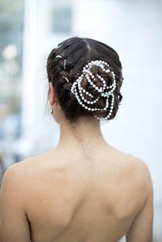 Models lovely hair at Savannah's Behind the Veil event. Photo credit: Katie McGee, Hair: B Street Salon