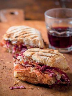 Get Prosciutto, Taleggio and Radicchio Panini Recipe from Cooking Channel