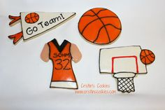 My daughter, Mellissa, and I made basketball cookies just because. I bought a super cool basketball hoop cookie cutter p. Basketball Cookies, Iced Biscuits, Music, Party, Kids, Food, Birthday, Musica, Young Children