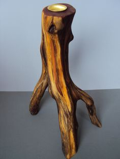 manzanita candle holder