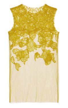 Vera Wang Chantilly Lace Tank in Chartreuse (make it myself with gauzy top and felt) Bd Fashion, Fashion Design, City Fashion, Fashion Details, Chantilly Lace, City Style, Lace Tank, Vera Wang, Lounge Wear