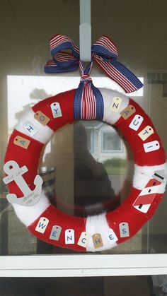 Ahoy Nauti Wenches Welcome Wreath... Last Sail before the Veil