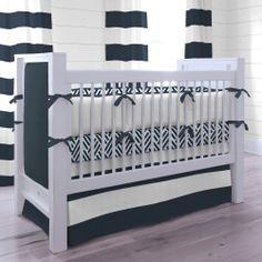 Navy and White Nautical Crib Bedding #carouseldesigns