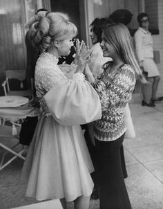 Debbie Reynolds and daughter Carrie.