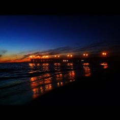 Manhattan Beach Pier on a beautiful warm night