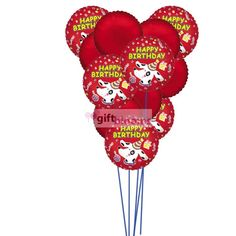 Happy Birthday Balloons With Colour Of Love 6 Mylar