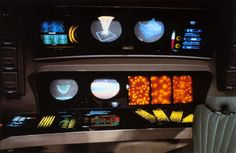 Star Trek Console.  Kind of iconic but not my preference.  I prefer tactile switches, not touchscreen nonsensery.  They did have good MFDs though.