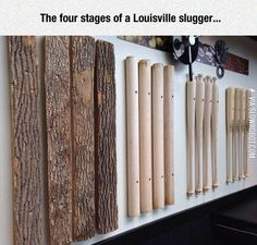 The four stages of a Louisville slugger.
