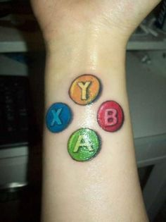 Gamers Tattoo, Tattoos Gamer, Tattoo Geek, Tatoos, Xbox Tattoo, Tattoo Art, Gamer Chick, Girl Gamer, Gamer Life