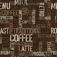 Abstract Coffee mural wallpaper