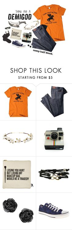 """Come Join! RTD"" by frizzleliz ❤ liked on Polyvore featuring Camp, Cult Gaia, Polaroid, Sephora Collection, Converse and Maria La Rosa"