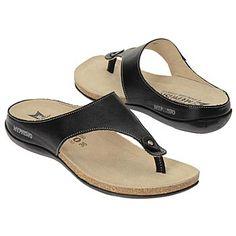 Mephisto Agacia Sandals (Black Leather) - Women's Sandals - 9.0 M