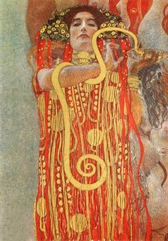 Gustav Klimt - Hygieia (detail from the medicine)