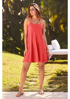 Take a look 👀 Casual Summer Dress in 3 Colors by Boston Proper ~ Distinctive hardware detail highlighting the shoulder and back is all this Short Casual Dress needs as it effortlessly drapes for a breezey look and feel. Available in Black, Coral and Blue | Cute Summer Dress | Summer Dress Ideas | Summer Outfit Ideas | Vacation Dress | Cruise Dress | Blue Casual Dress | Resort Dress | Date Dress | Boston Proper Clothes | Boston Proper Clothing | #BostonProper