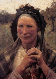 Pintura a óleo sobre tela de Sir George Clausen (1852-1944)