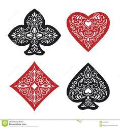 card suit tattoo design symbology tats n cool illustrations