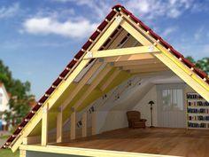 Под обычной двускатной крышей также можно разместить жилую мансарду