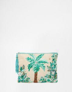 Imagen 1 de Clutch con bordado de palmera de Star Mela