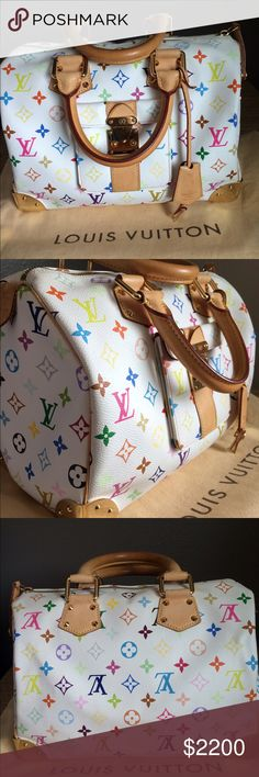 LIMITED EDITION LOUIS VUITTON SPEEDY 30💘💘💘💘💘 In LOVE ❤️ This is an authentic Louis Vuitton speedy 30. It's in mint condition and is also a limited edition piece. There is no damage or smell and the leather has a light patina color. Comes with dust bag and box. Open to offers! Louis Vuitton Bags Satchels