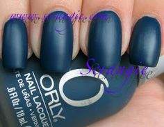 Orly: Matte Couture for Fall/Winter 2009 - Blue Suede
