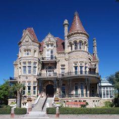 Bishop& Palace - Galveston, Texas by Victorian Architecture, Beautiful Architecture, Beautiful Buildings, Architecture Details, Beautiful Homes, Ancient Greek Architecture, Modern Architecture, Galveston Texas, Galveston Island