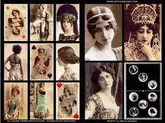 VINTAGE SHOW GIRLS   Beauties of the Belle Epoque ** Art Nouveau Seasons (Mucha)