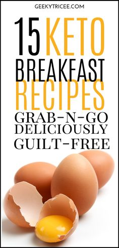 Easy keto breakfast recipes to help you stick to your ketogenic diet on those busy mornings when you need something on the go. Make ahead, quick, low carb healthy breakfast recipes also perfect for beginners. Keto breakfast recipes for weight loss you can Ketogenic Breakfast, Low Carb Breakfast, Healthy Breakfast Recipes, Clean Eating Recipes, Ketogenic Diet, Breakfast Ideas, Healthy Eating, Keto Friendly Desserts, Diabetic Friendly