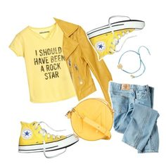 """""""I Should Have Been A Rock Star 😎🎸"""" by badassbabyboomer ❤ liked on Polyvore featuring Zadig & Voltaire, Balenciaga, Converse, Dickies, Thierry Mugler and Ashiana"""