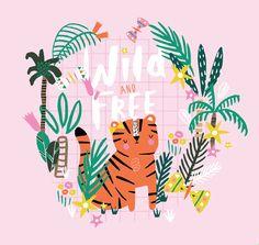 Designer BettyjoyDesignStudio Designer Lucia Wilkinson #jungle #tiger #cute #wildandfree