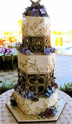 Floral Tower by Rosebud Cakes - 25 Year Anniversary, via Flickr