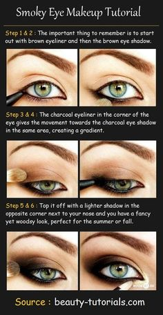 Smoky Eye Makeup Tutorial @ Hair Color and Makeover Inspiration