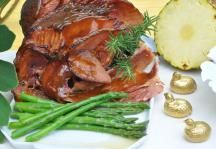 Brown Sugar Rosemary Mustard Glazed Ham Recipe #Easter #Thanksgiving #Christmas #ImperialSugar