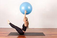 posições de pilates com bola - Pesquisa Google