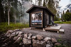 Finland Cabin Stay: Enjoy pristine Scandinavian nature from just Spa Sauna, Sauna Shower, Sauna Design, Outdoor Sauna, Finnish Sauna, Summer Cabins, Tiny House Cabin, Tiny Houses, Bothy