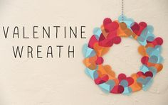 DIY VALENTINE WREATH love these colors together