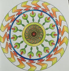 Colouring with Pencil colours stress buster