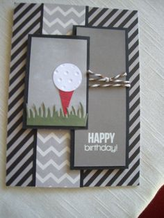 Masculine card for golfer