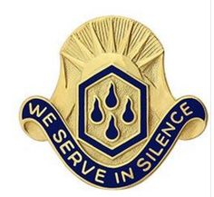 464th Chemical Brigade Unit Crest (We Serve in Silence)