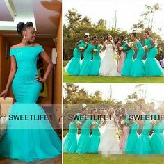 Nigerian bridesmaid dresses - 2018 Cheap African Mermaid Long Bridesmaid Dresses Off Should Turquoise Mint Tulle Lace Appliques Plus Size Maid of Honor Bridal Party Gowns – Nigerian bridesmaid dresses African Bridesmaid Dresses, Turquoise Bridesmaid Dresses, Vintage Bridesmaid Dresses, Mermaid Bridesmaid Dresses, Blue Bridesmaids, Mermaid Dresses, Wedding Bridesmaids, Wedding Guest Gowns, Wedding Party Dresses