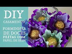 DIY Casamento Aprenda a fazer forminhas com papel de seda - YouTube