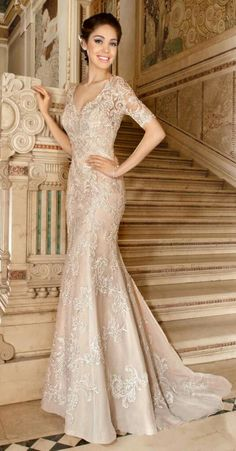 Wedding Dress Photos - Find the perfect wedding dress pictures and wedding gown photos at WeddingWire. Browse through thousands of photos of wedding dresses. 2015 Wedding Dresses, Wedding Dress Styles, Bridal Dresses, Wedding Gowns, Lace Trumpet Wedding Dress, Mermaid Wedding, Prom Dresses, Gold Wedding, Vintage Lace Weddings