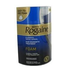 Men's Rogaine Foam-Rogaine Hair Regrowth Treatment, 9/2.11 oz. cans (9 Month Supply) by Unknown. $124.76. It goes on easy and dries quickly. Helps reverse the progression of hereditary hair loss. Should be applied directly to the scalp-twice a day, every day. First and only FDA-approved hair regrowth foam. Men's Rogaine Foam-Rogaine Hair Regrowth Treatment is the first and only FDA-approved hair regrowth foam. It contains 5% minoxidil-and in clinical testing, R...