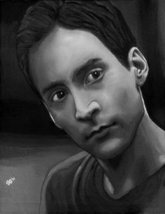 A really really good painting of Abed (Danny Pudi) by *tygerbug on deviantART