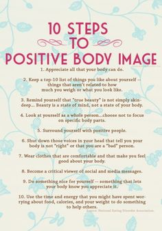 A positive body image is imperative to your mental health.